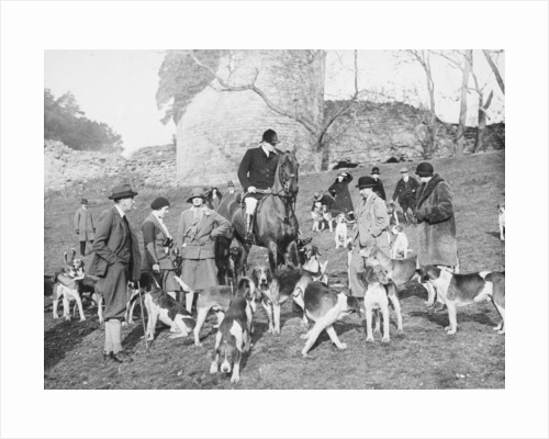Hunt Meet, Chartley Castle by McCann