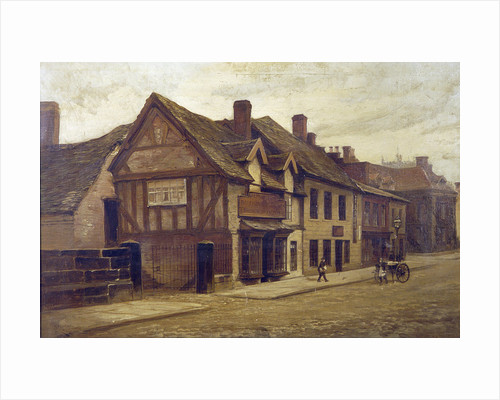 Greengate Street from the Bridge and the Old Pork Pie Shop, Stafford, 1900 by J. H. Bracewell