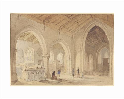 Elford Church by Thomas Peploe Wood