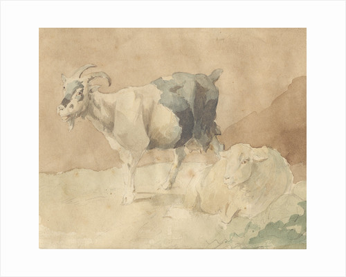 Goat and sheep by Thomas Peploe Wood