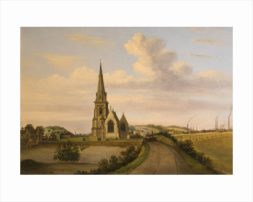 Looking West of St Luke's Church, Silverdale by Henry Lark Pratt