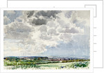 Panoramic View with Cloud Study by Reginald Haggar