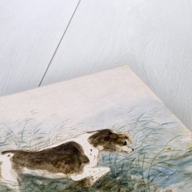 A Dog Watching a Rat in the Water by John Constable