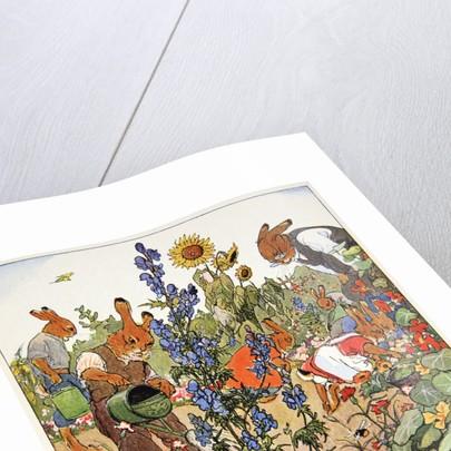 Gardening lesson by Fritz Kock-Gotha