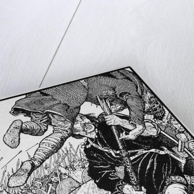 Thorolf slays Earl Hring at Brunanburgh by Morris Meredith Williams