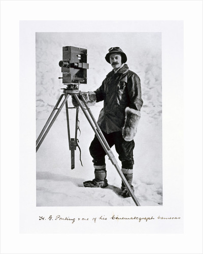 Herbert Ponting, British photographer, in the Antarctic by Anonymous