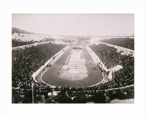 View of the first modern Olympic Games in Athens by Anonymous