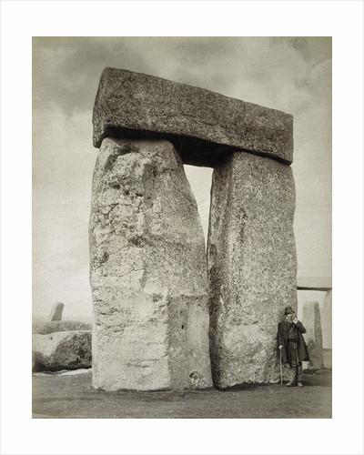 A shepherd posing at Stonehenge on Salisbury Plain by Anonymous