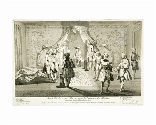 Assembly of Freemasons for the initiation of a Master by Anonymous