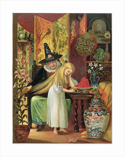 Scene from Hans Christian Andersen's fairy tale, The Snow Queen by Anonymous