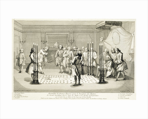 Assembly of Freemasons before the initiation of a master by Anonymous