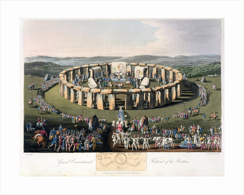 Grand Conventional Festival of the Britons by Robert Havell