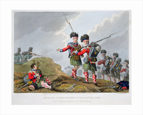 Highland troops at the Battle of Vimeiro by Matthew Dubourg
