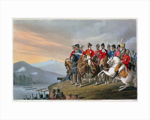 The Duke of Wellington and his Staff Crossing the Bidassoa and Entering France by Matthew Dubourg