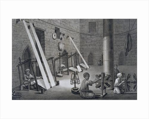 Interior of a Weavers Workshop by Schroeder