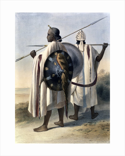 Abyssinian warriors by Eugene Leroux