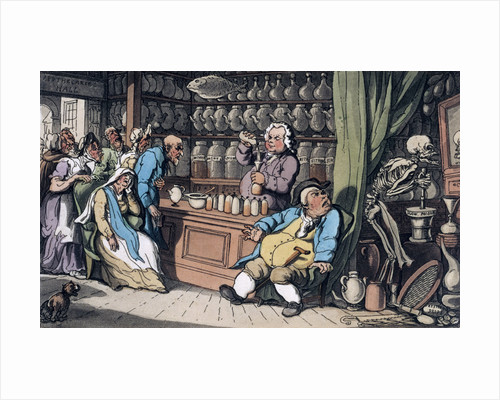 I have a secret art to cure/ Each malady which men endure by Thomas Rowlandson