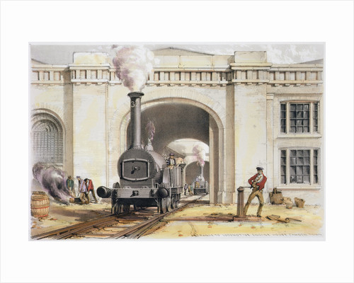 Entrance to the locomotive engine house by John Cooke Bourne