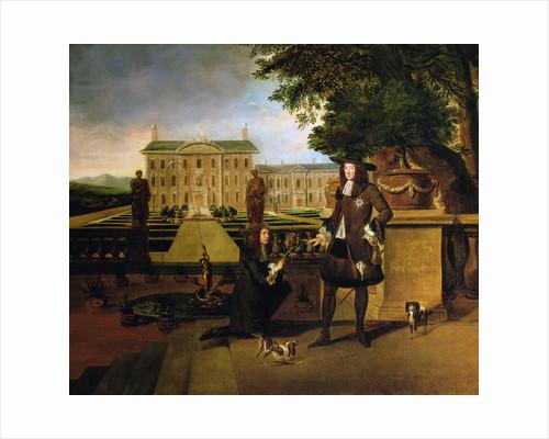 John Rose, the King's Gardener, presenting Charles II with a pineapple by Hendrick Danckerts