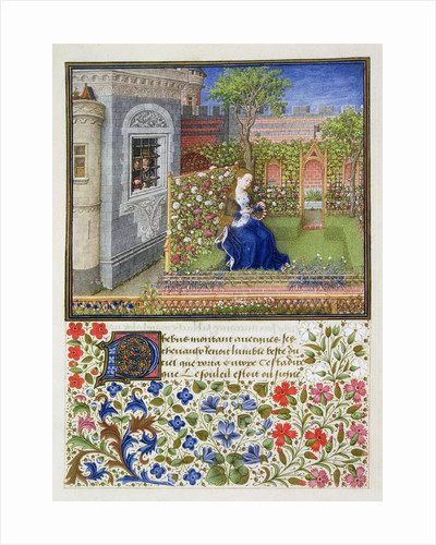Emilia in her garden by Anonymous