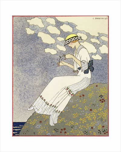 Design for a country dress by Maison Paquin by Georges Barbier