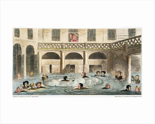 Public Bathing at Bath, or Stewing Alive by Isaac Robert Cruikshank
