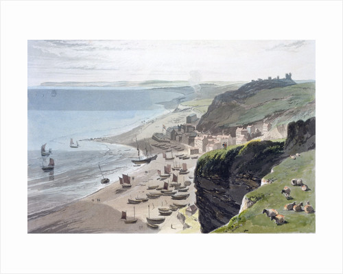 Hastings, from the East Cliff by William Daniell