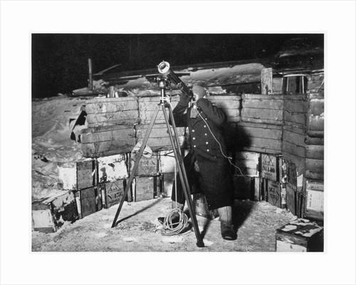 Commander Evans observing an Occulation of Jupiter by Herbert Ponting