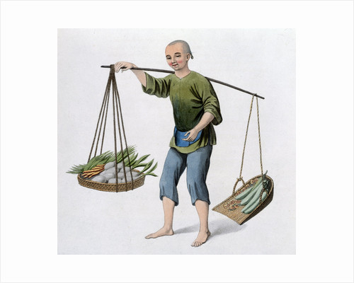 A boy with vegetables by J Dadley