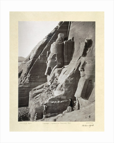 Facade of the Temple of Abu Simbel from the north by Frank Mason Good