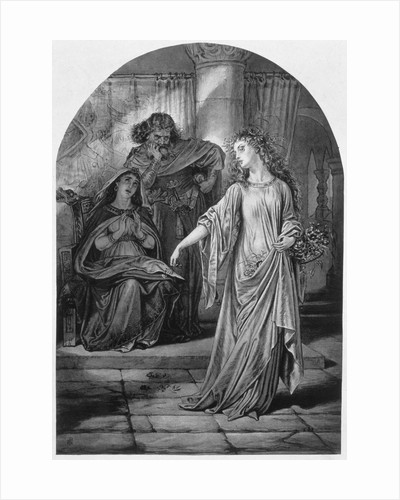 Ophelia, in Hamlet, by William Shakespeare by Anonymous