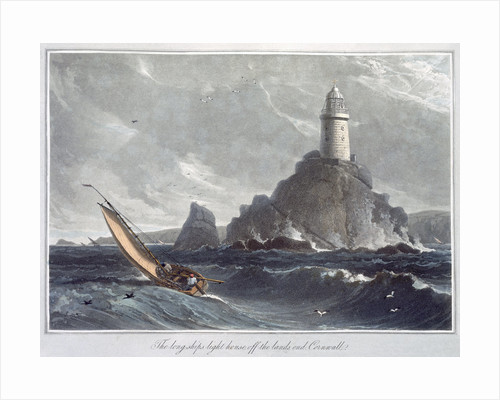 The Longships Lighthouse off the Lands End by William Daniell