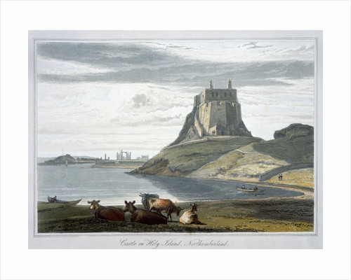 Castle on Holy Island by William Daniell