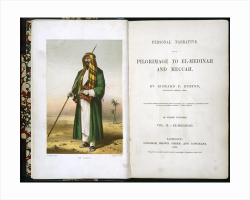 Personal Narrative of a Pilgrimage to El-Medinah and Meccah by Richard Burton by Anonymous