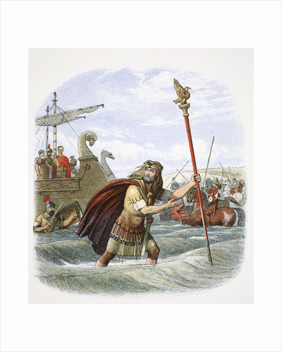 The Roman standard bearer of the 10th legion landing in Britain by James William Edmund Doyle