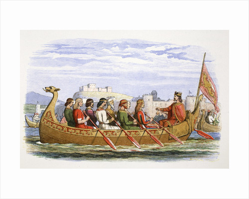The barge of Edgar manned by eight kings on the Dee by James William Edmund Doyle