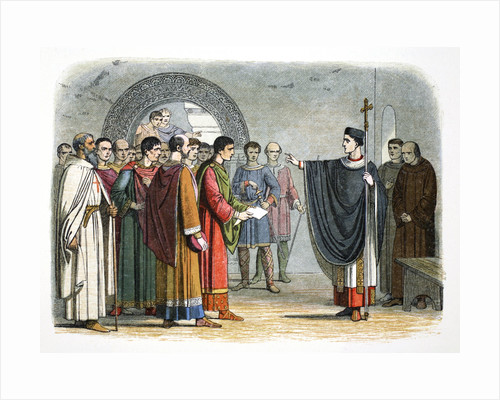 Thomas a Becket forbids the Earl of Leicester to pass sentence on him by James William Edmund Doyle