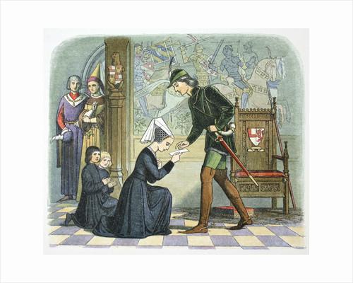 Edward IV of England and Lady Elizabeth Grey by James William Edmund Doyle