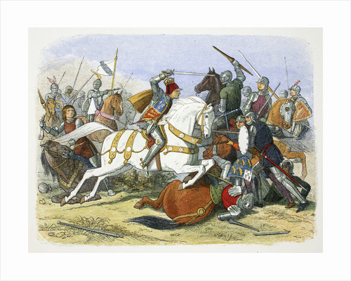 Richard III of England at the Battle of Bosworth Field by James William Edmund Doyle