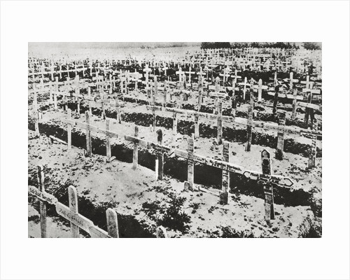 A German cemetery in France by Anonymous