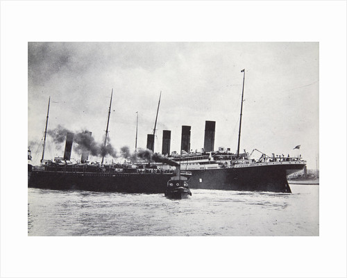 The RMS 'Titanic' leaving Southampton by Anonymous