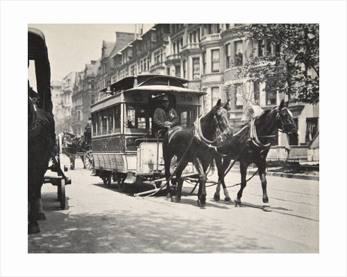 Horse-drawn tram by Anonymous