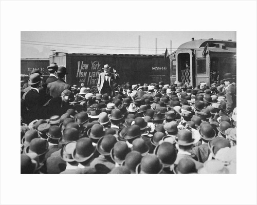 Eugene Victor Debs, American Union leader, addressing a crowd by Anonymous