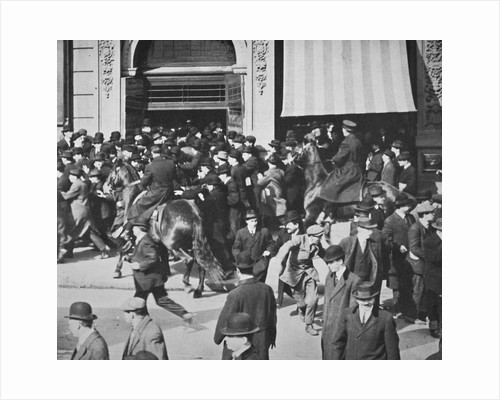 Mounted police disperse a crowd, Union Square, New York City by Anonymous