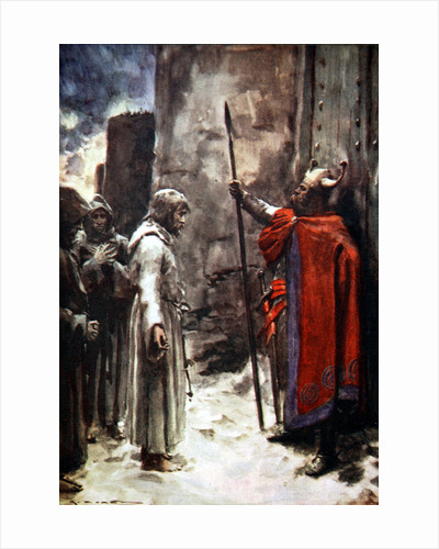 Henry IV of Germany outside the gates of Canossa by Arthur C. Michael