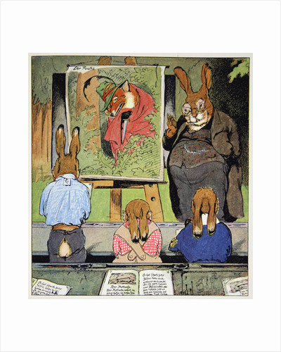 Learning about foxes by Fritz Kock-Gotha