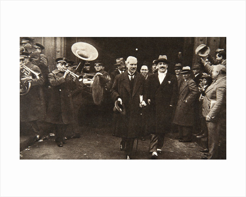 Ramsay MacDonald in New York being escorted by Grover Whalen by S and G