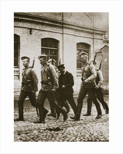A patrol hunting down suspects following the revolt at Vyborg by Anonymous