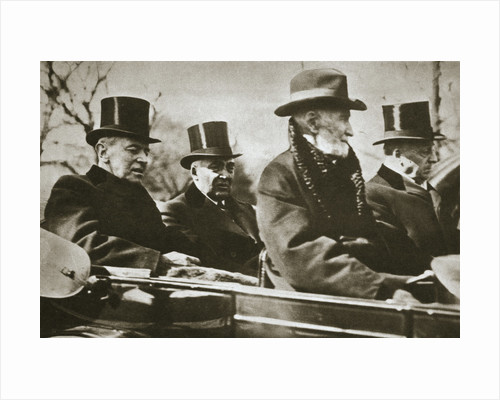 Presidents Wilson and Harding travelling to the Capitol by Anonymous