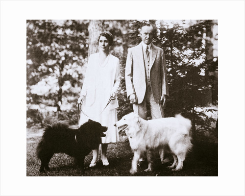 Calvin Coolidge and his wife by Anonymous